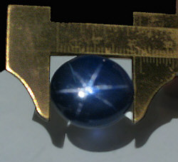 Sternsaphier-Cabochon 51,42ct